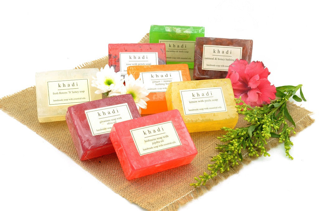Assorted Natural Handmade Soaps - Double Nourishment (Pack of 8) with ingredients