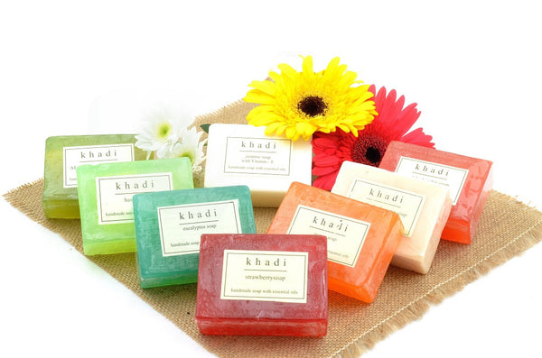 Assorted Natural Handmade Soaps - Family Collection (Pack of 8) with ingredients