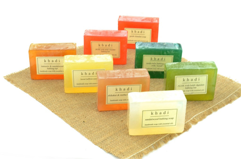 Assorted Natural Handmade Soaps - India's Traditional (Pack of 8)