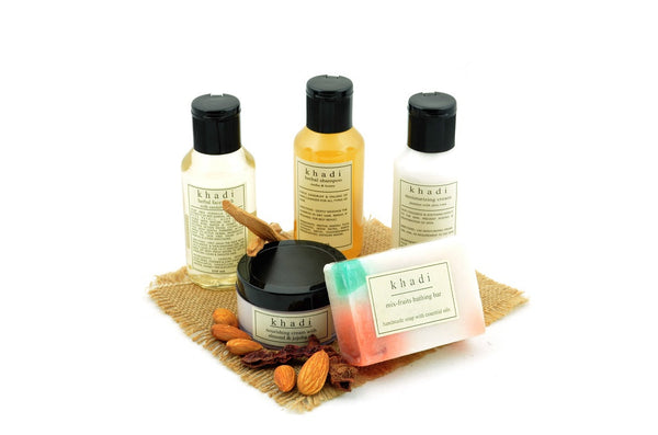 Complete Winter Travel Natural Skin & Hair Care Kit with ingredients