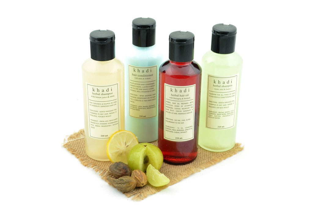 Natural Anti Dandruff Solution Kit of Hair Oil, Shampoo & Conditioner with ingredients