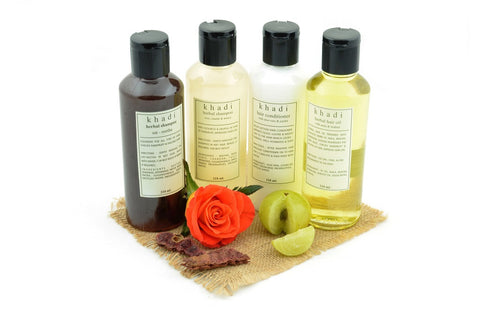 Natural Anti Dryness Solution Kit of Hair Oil, Shampoo & Conditioner