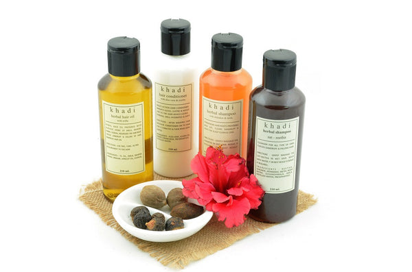 Natural Anti Hair Fall Solution Kit of Hair Oil, Shampoo & Conditioner with ingredients