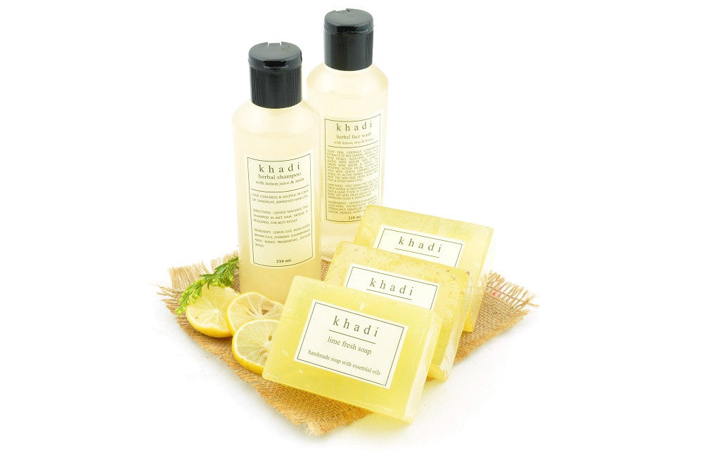 Natural Goodness of Limes & Lemons Herbal Skin & Hair Care Kit with ingredients