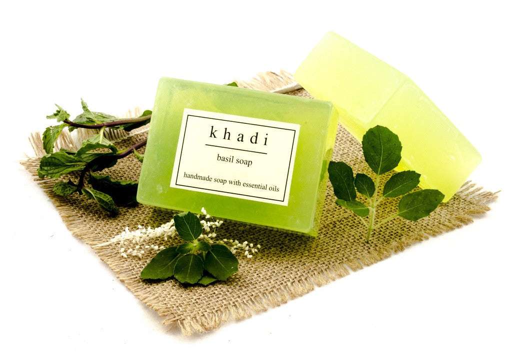 Basil Soap - 125 gm with ingredients