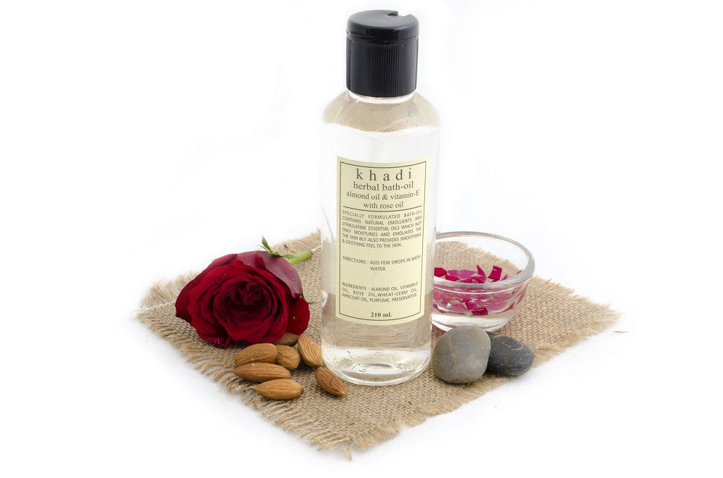 Almond Oil & Vitamin-E with Rose Bath Oil - 210 ml with ingredients
