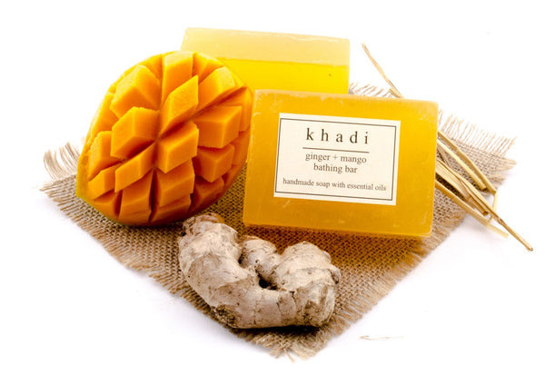 Ginger & Mango Bathing Bar - 125 gm with ingredients