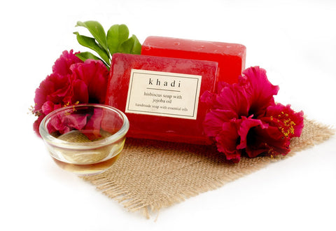 Hibiscus Soap with Jojoba Oil - 125 gm