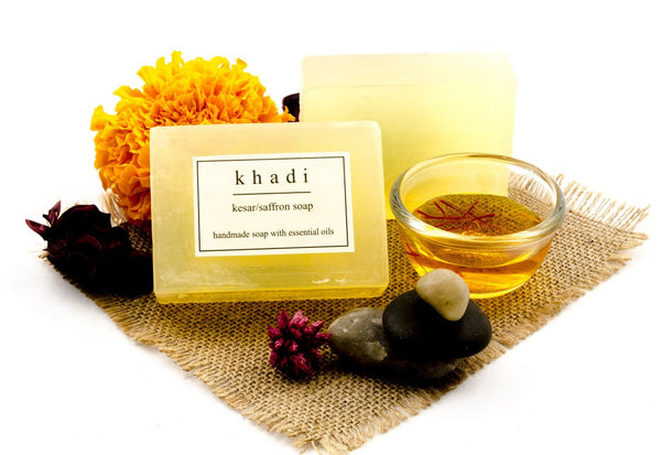 Kesar/Saffron Soap - 125 gm with ingredients
