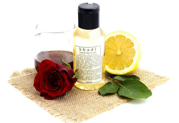 Lemon, Rose & Honey Face Wash 110 ml with ingredients