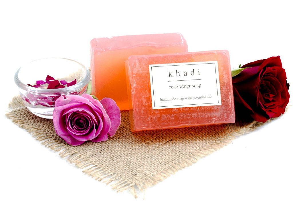 Rose Water Soap - 125 gm with ingredients