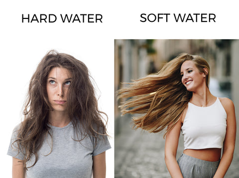 Bathing with soft water gives you smooth and silky hair.