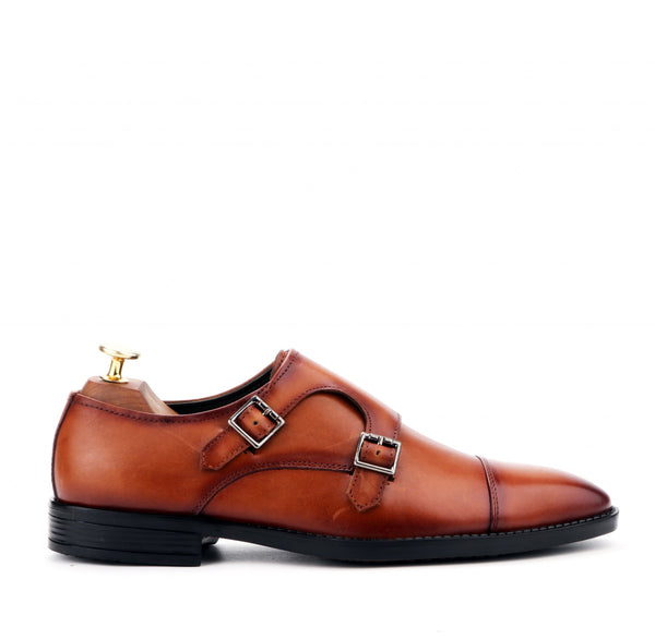 ANZIO THE TAN MONK STRAP
