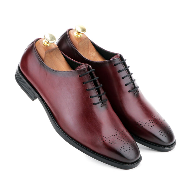 DUKE THE BORDO LEATHER LACE UP
