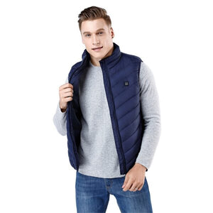 USB Heated Vest Men Winter Heating Jacket
