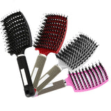 Silky-hair Boar Bristle Hair Brush