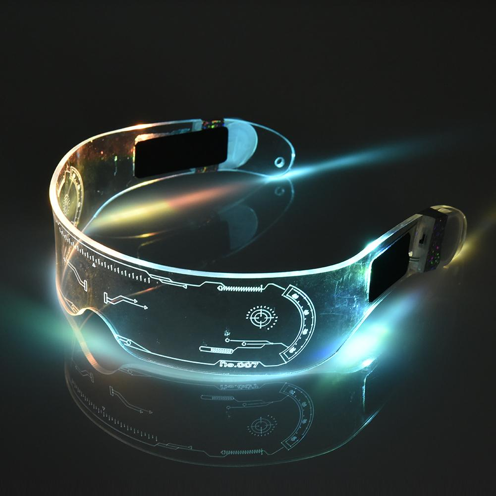 LED Glasses EL Wire Neon Party Luminous LED Glasses Light Up Glasses Rave Costume Party Decor Cyberpunk Goggles LED Toys