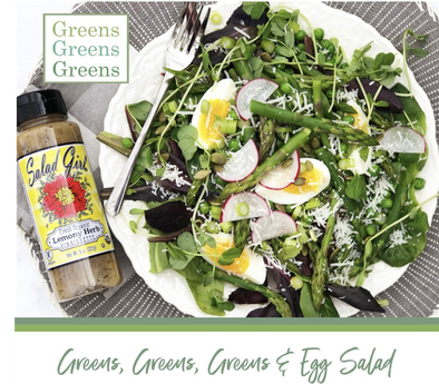 Greens, Greens, Greens and Egg Salad