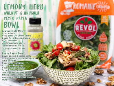 Lemony Herb Pesto Pasta Bowl
