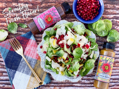 Pomegranate Brussel Sprouts Salad
