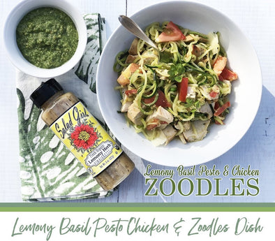 Lemony Herb Pesto Zoodles