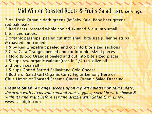 Winter Roasted Roots & Citrus Fruits Salad