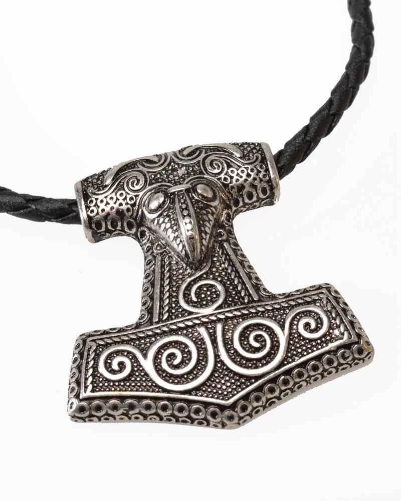 Necklace, Leather, Thor's Hammer