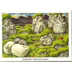 Postcard, Icelandic rock 'n ' wool, cartoon