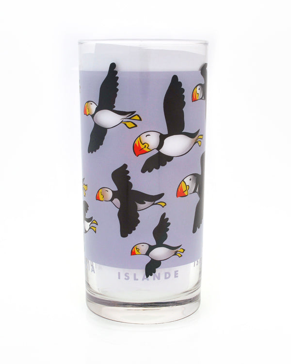 Milk Glass, Puffins
