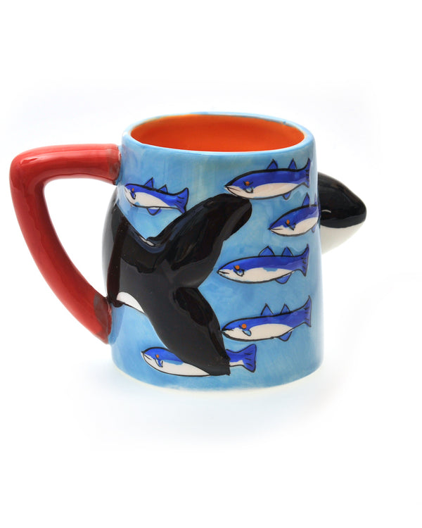 Sculpted mugs, Whale