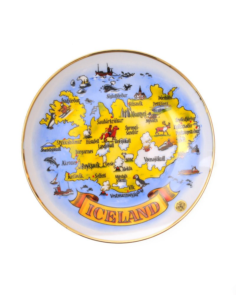 Wall plate, Map of Iceland