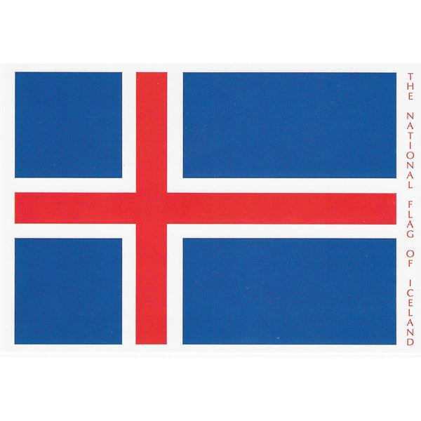 Postcard, The Icelandic National Flag