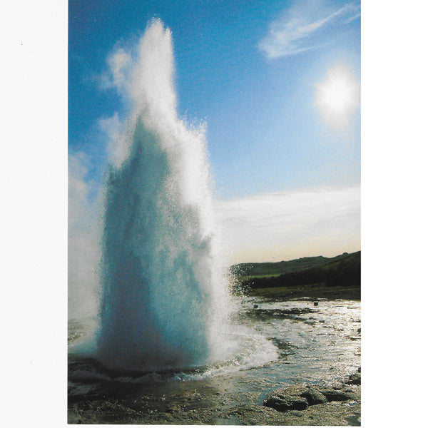 Postcard, The hot spring Strokkur spouting I