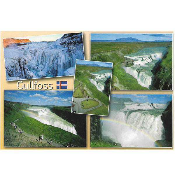 Postcard, Gullfoss multiview