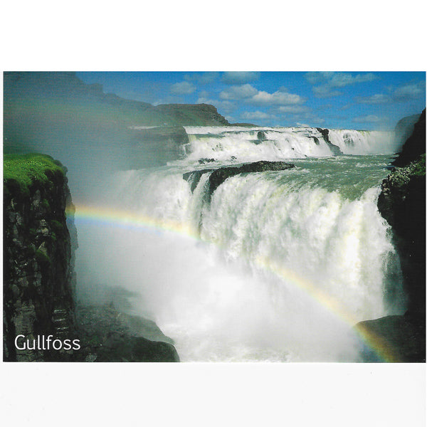 Postcard, Gullfoss waterfall V