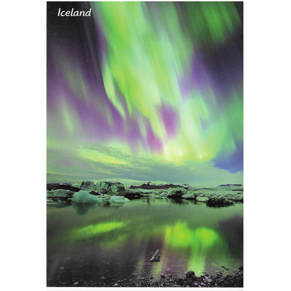 Postcard, Northern lights - Aurora Borealis