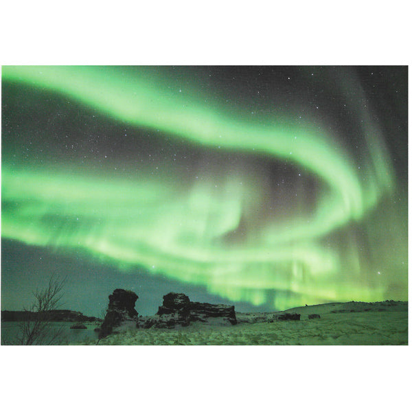 Postcard, Northern Lights at Mývatn