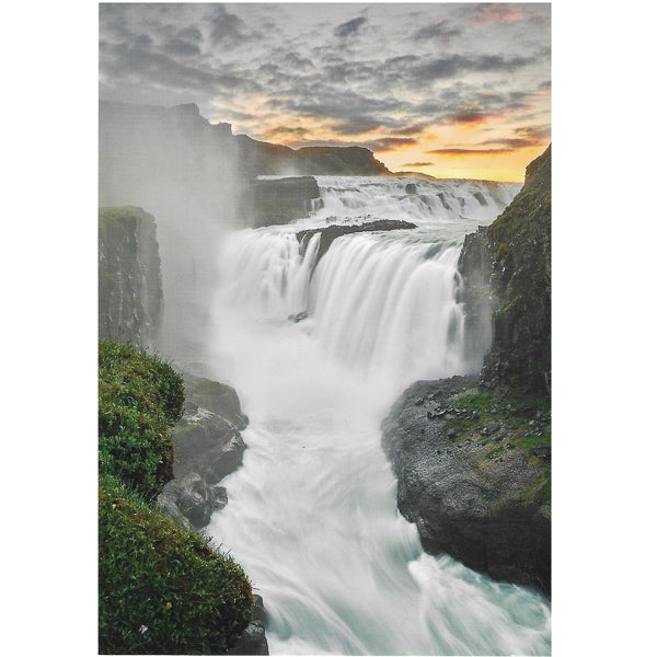 Postcard, Gullfoss, sunrise