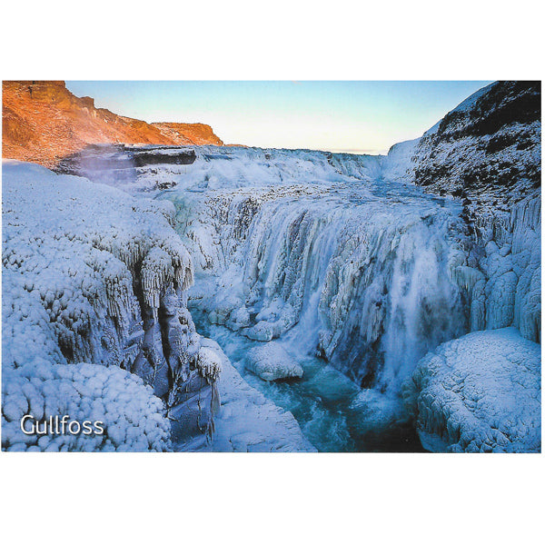 Postcard, Gullfoss in winter