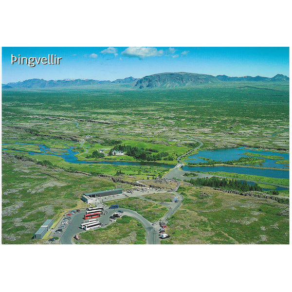Postcard, Thingvellir, view of the vistor center