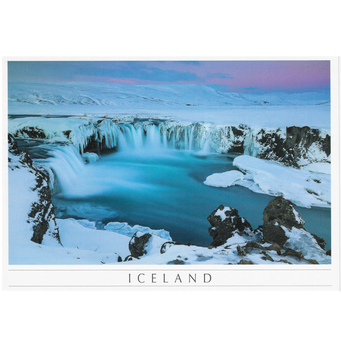Postcard, Goðafoss, winter
