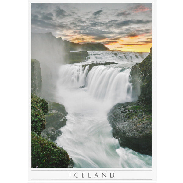 Postcard large, Gullfoss sunrise