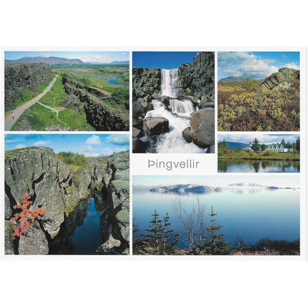 Postcard large, Þingvellir multiview