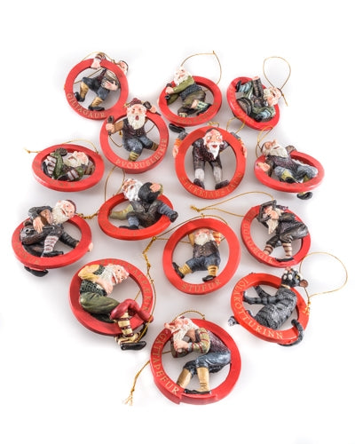 Complete set of 14 ornaments - 15% discount