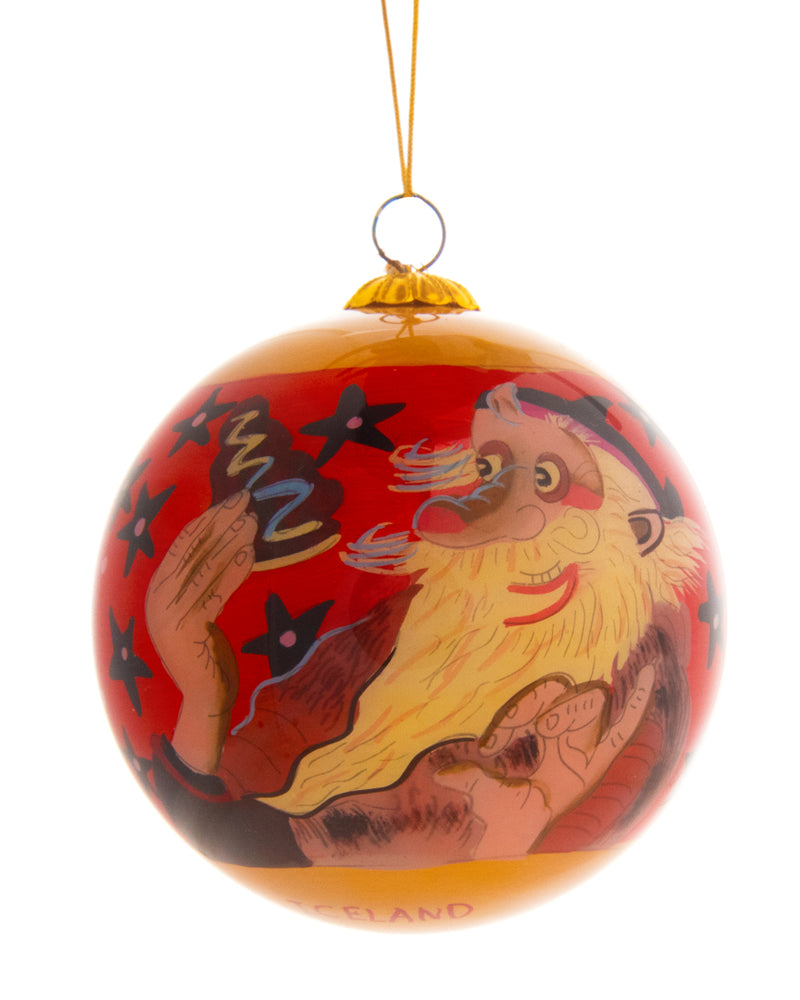 Handpainted Christmas Ball Ornament, Gáttaþefur -  Ketkrókur