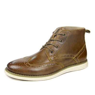 Hanrae Men's Genuine Leather Causal Boots