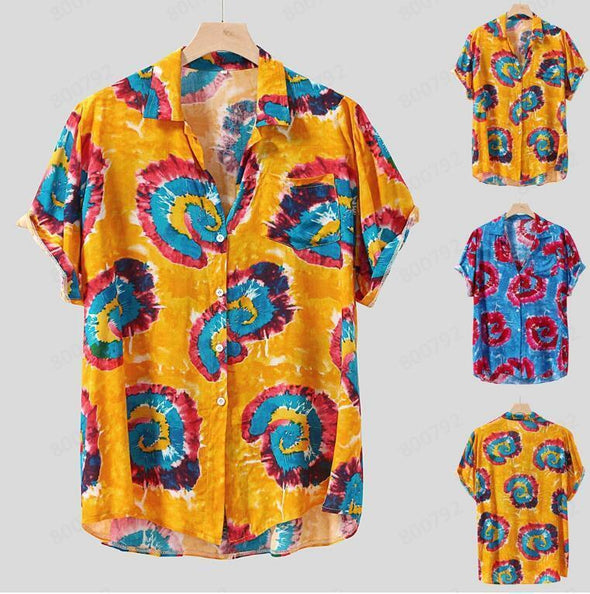 Hanrae Beach casual shirt Hawaiian wind short sleeve