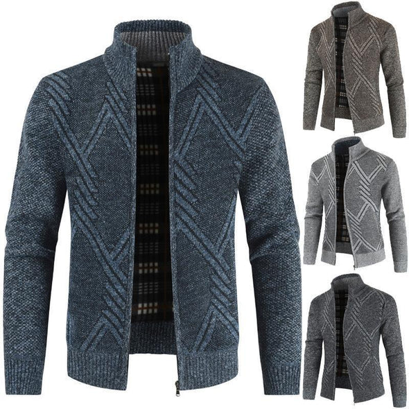Hanrae Men's Knit Jackets Casual Cardigan Sweater Jacket