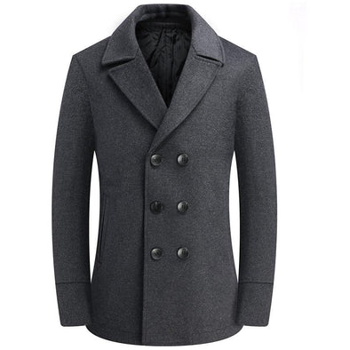 Hanrae Double-breasted Woolen Coat