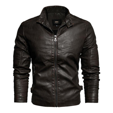 Hanrae Leather Jacket Slim Business Casual Retro Jacket